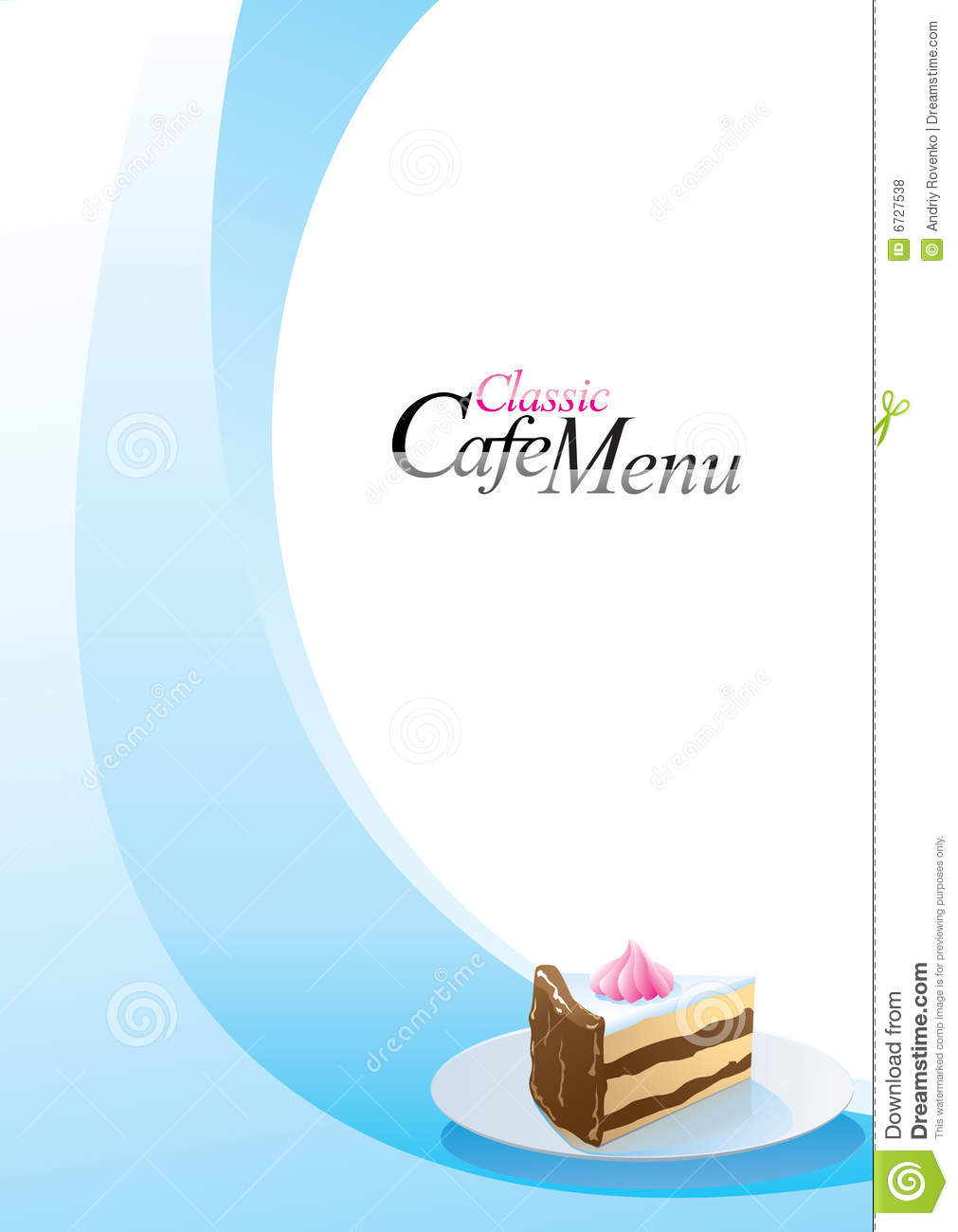 dessert menu template stock vector illustration of tasty 6727538
