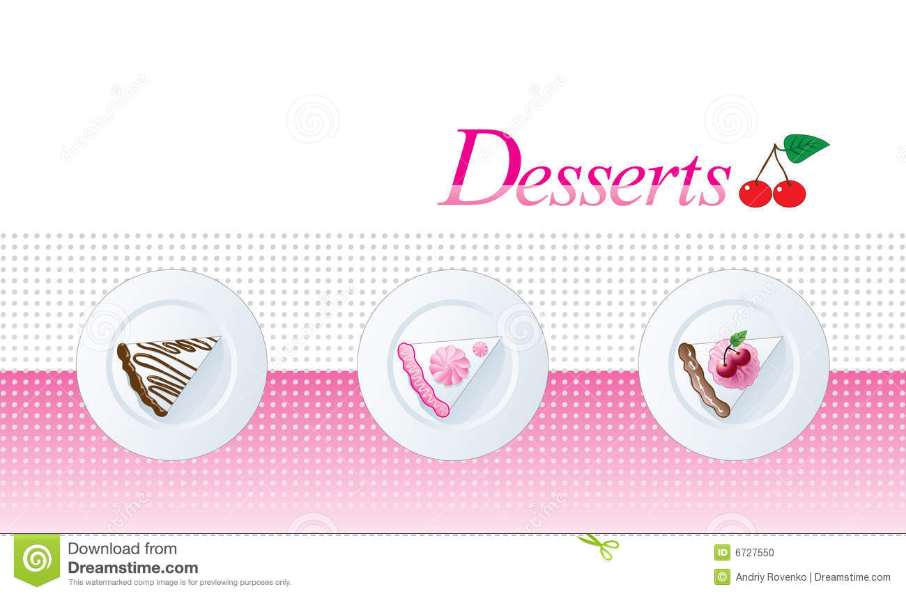 dessert menu template stock vector illustration of restaurant 6727550