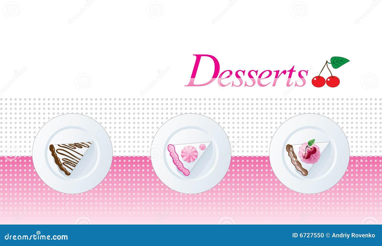 dessert menu templates