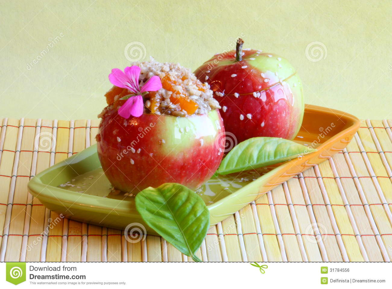 Dessert picture candy apples stock photos royalty free for Apples decoration