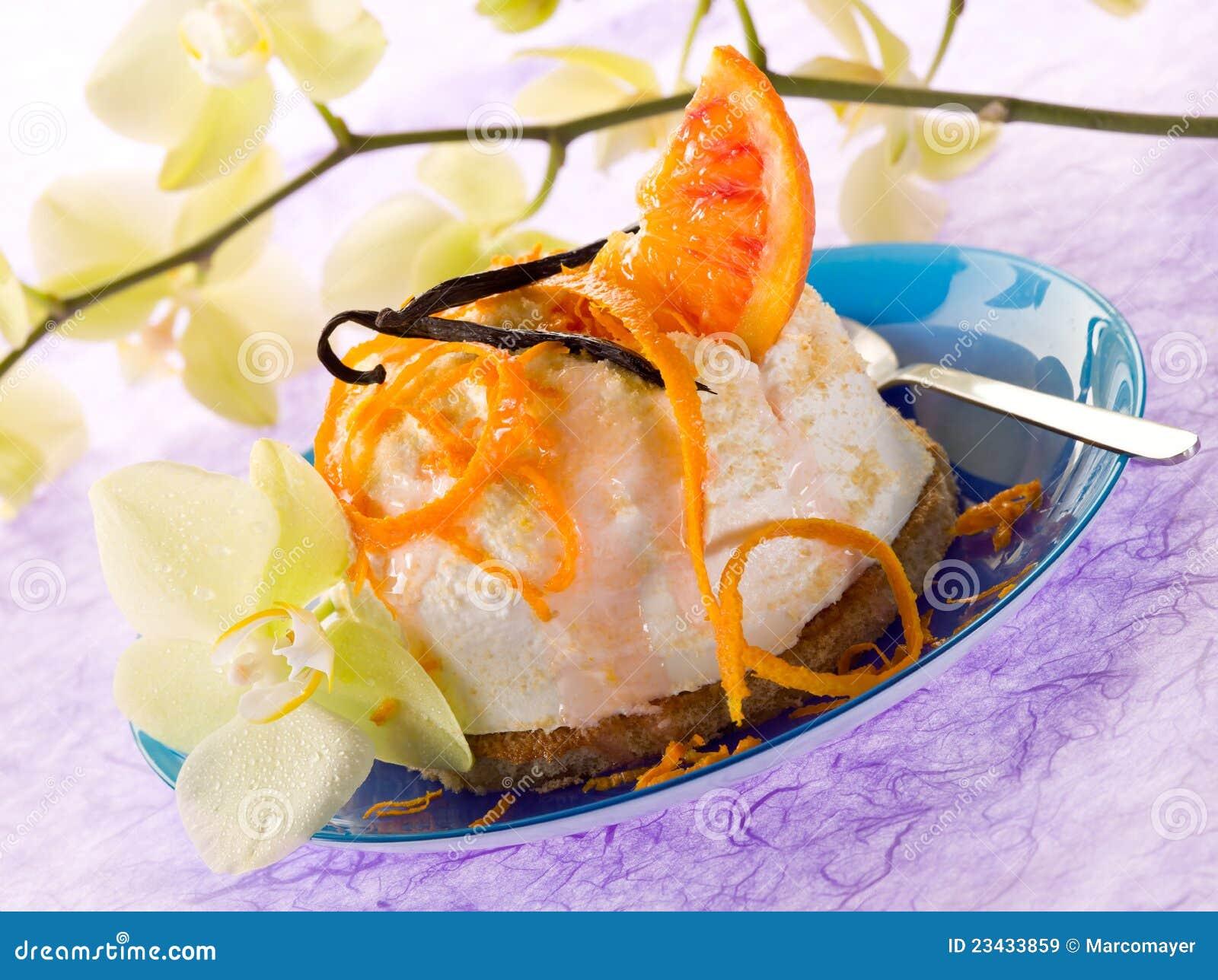 Dessert Ricotta With Orange Royalty Free Stock Images - Image ...