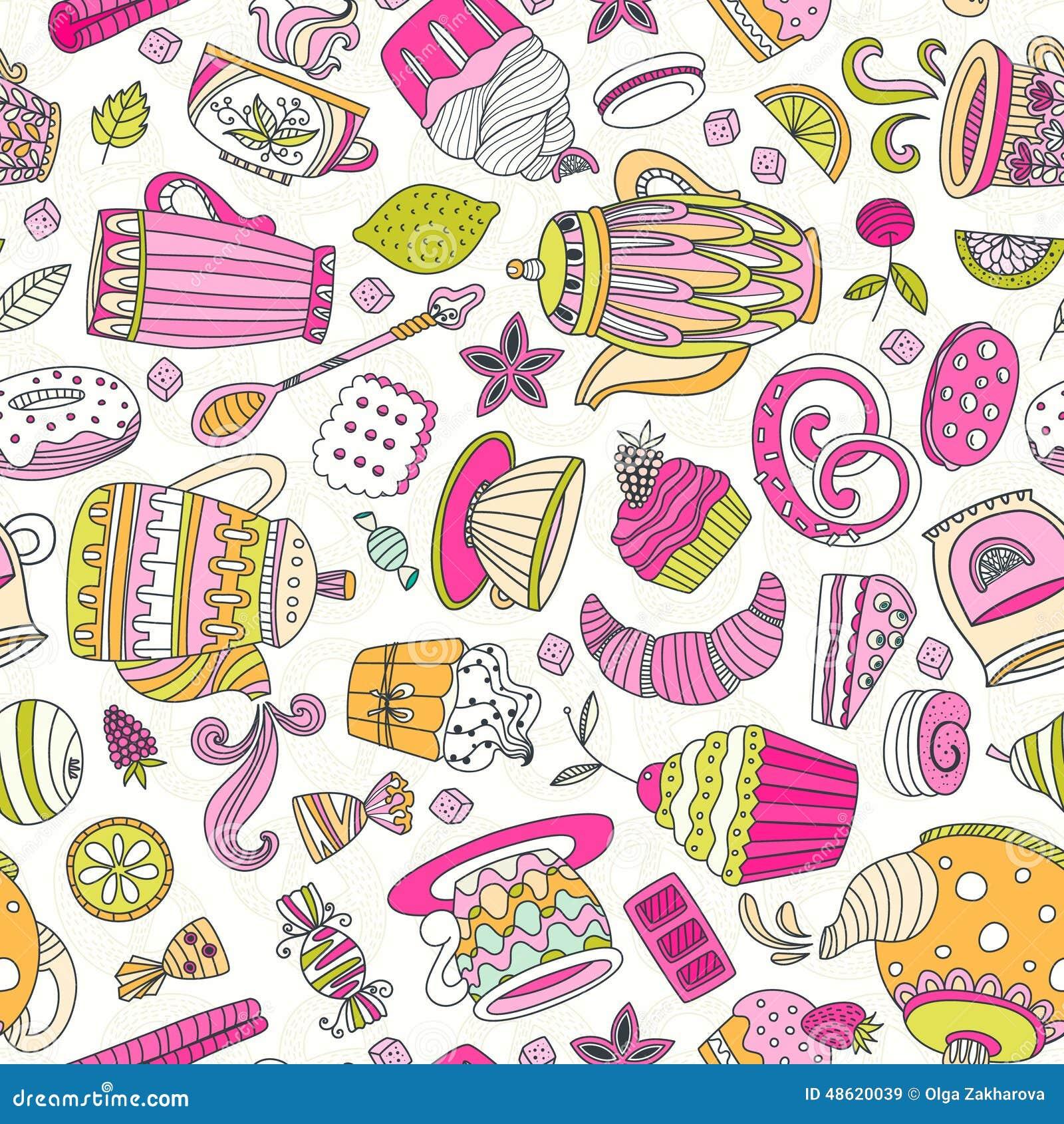 dessert seamless pattern stock vector image 48620039 teapot clip art pictures tea pot clip art hd