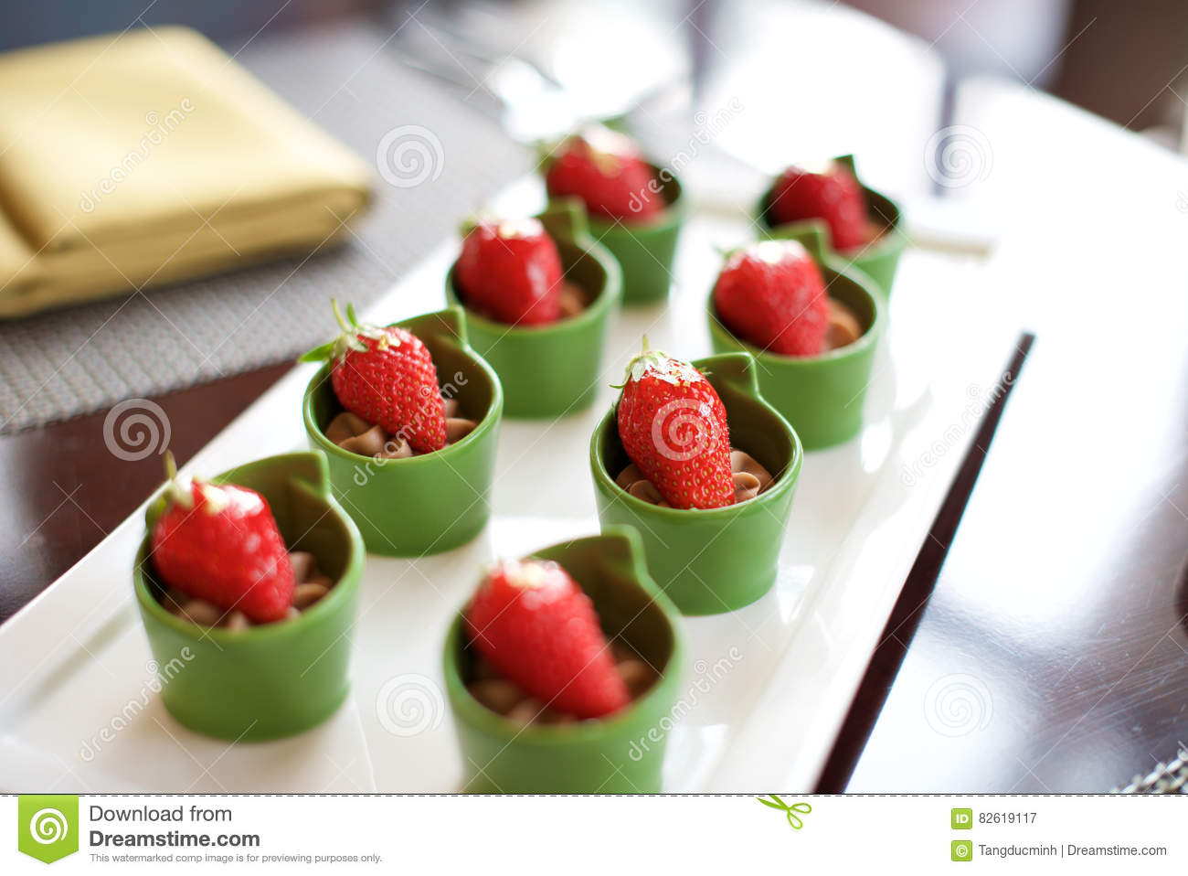 Dessert strawberry canapes food stock photo image 82619117 for Canape desserts