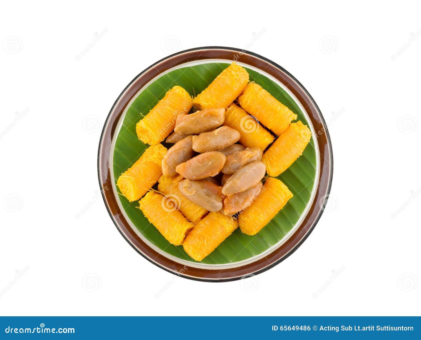 Dessert traditionnel thaïlandais, (lanière de Foi)