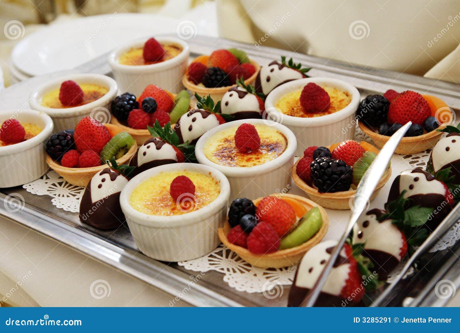 Dessert Tray Stock Image  Image: 3285291