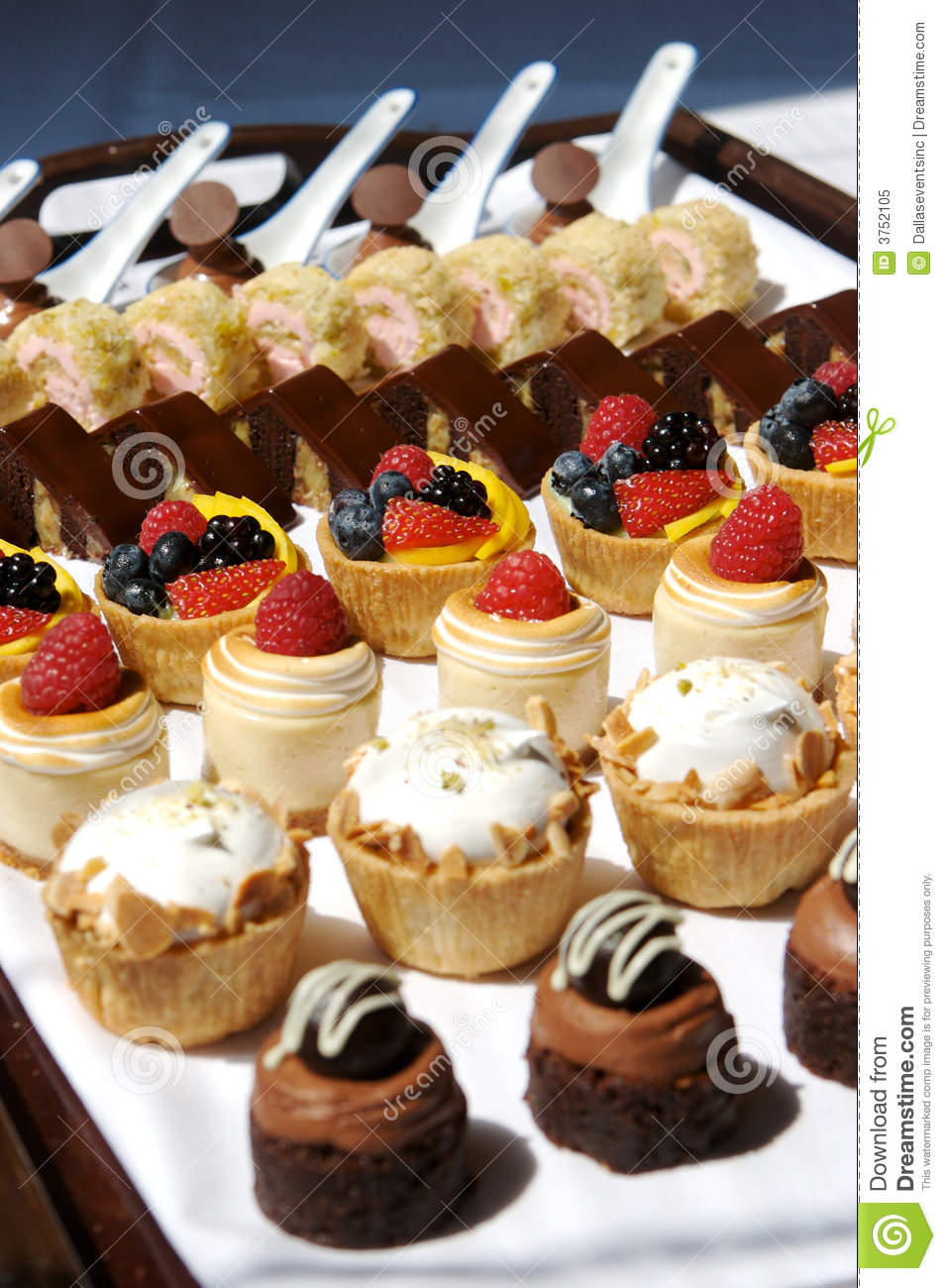 Dessert Tray Assortment Royalty Free Stock Photo Image