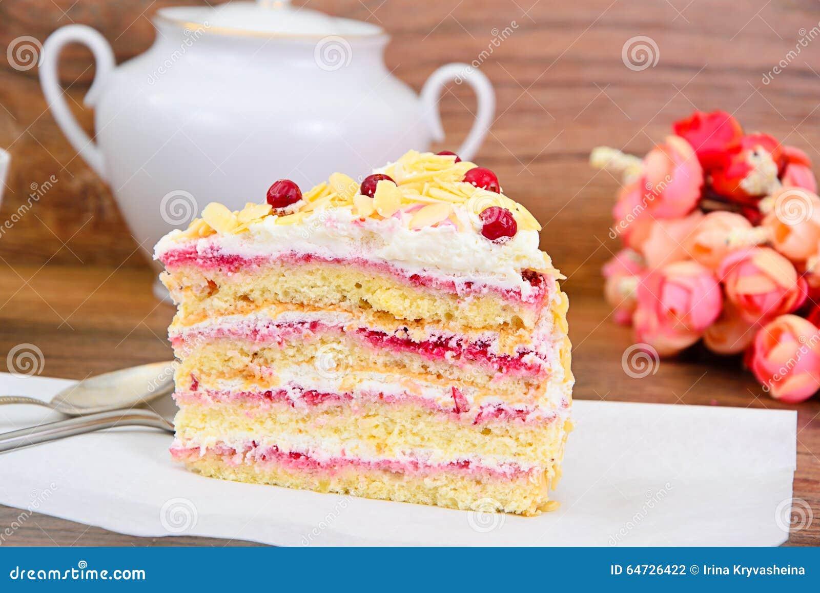 Dessertcake met Amerikaanse veenbessen