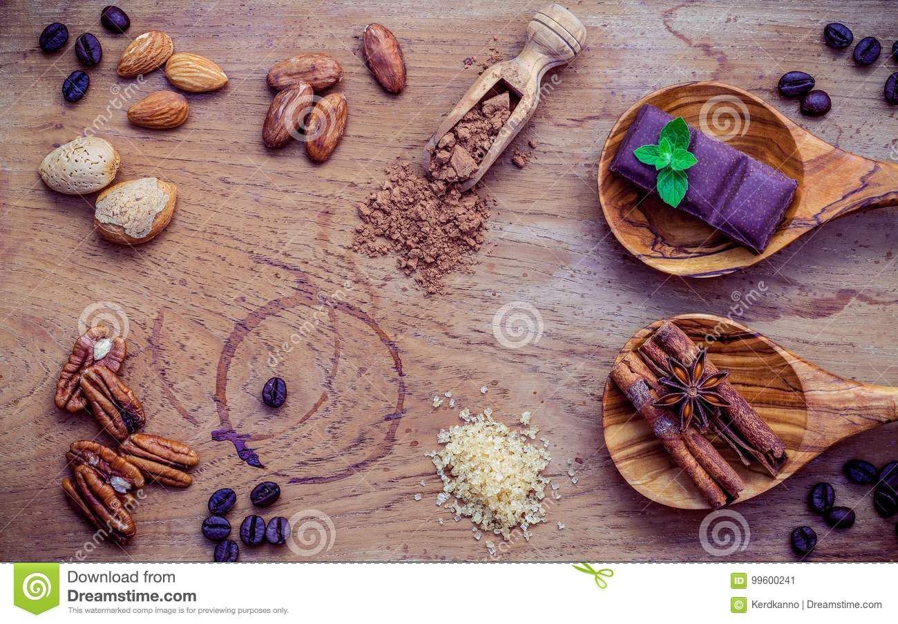 Desserts Background And Menu Design Ingredients For Bakery Pe