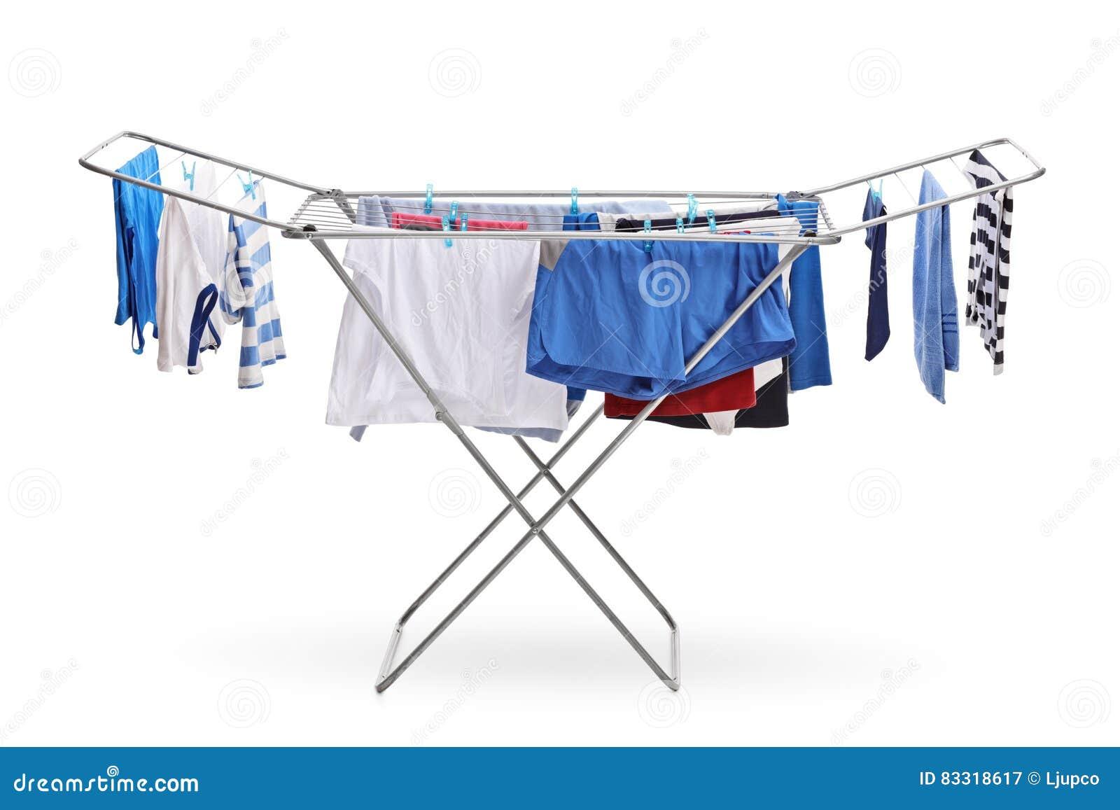 dessiccateur de support avec accrocher de vêtements image stock