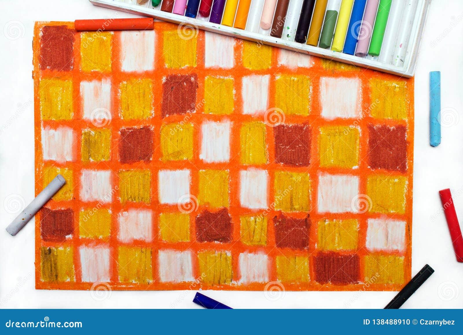 Dessin à Carreaux Coloré Photo Stock Image Du Balai 138488910