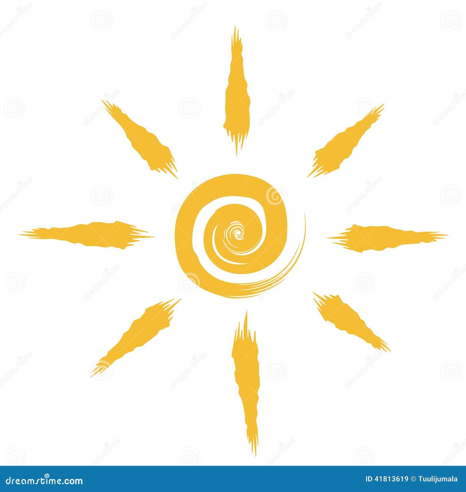 Dessin abstrait du soleil illustration de vecteur - Dessin du soleil ...