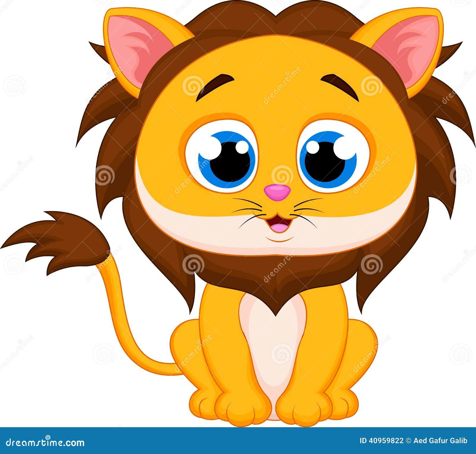 Populaire Dessin Animé Mignon De Lion Illustration de Vecteur - Image: 40959822 DT91