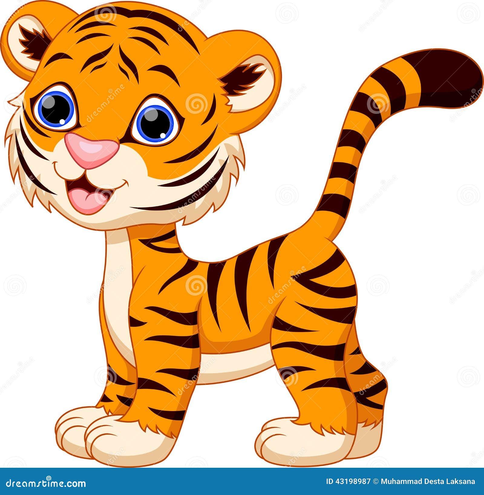Fabuleux Dessin Animé Mignon De Tigre Illustration Stock - Image: 43198987 LO43