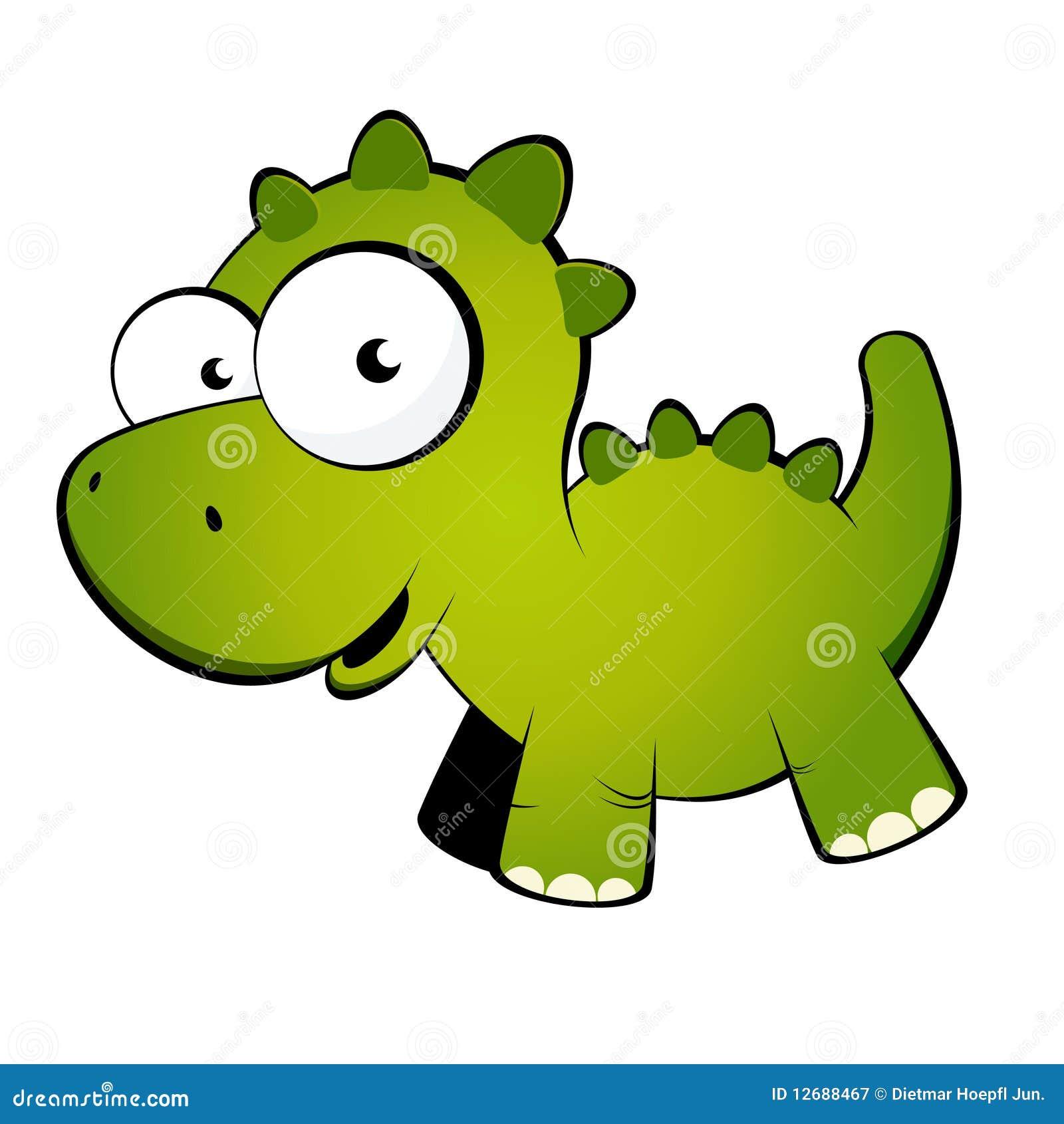 Dessin animé amical de dinosaur