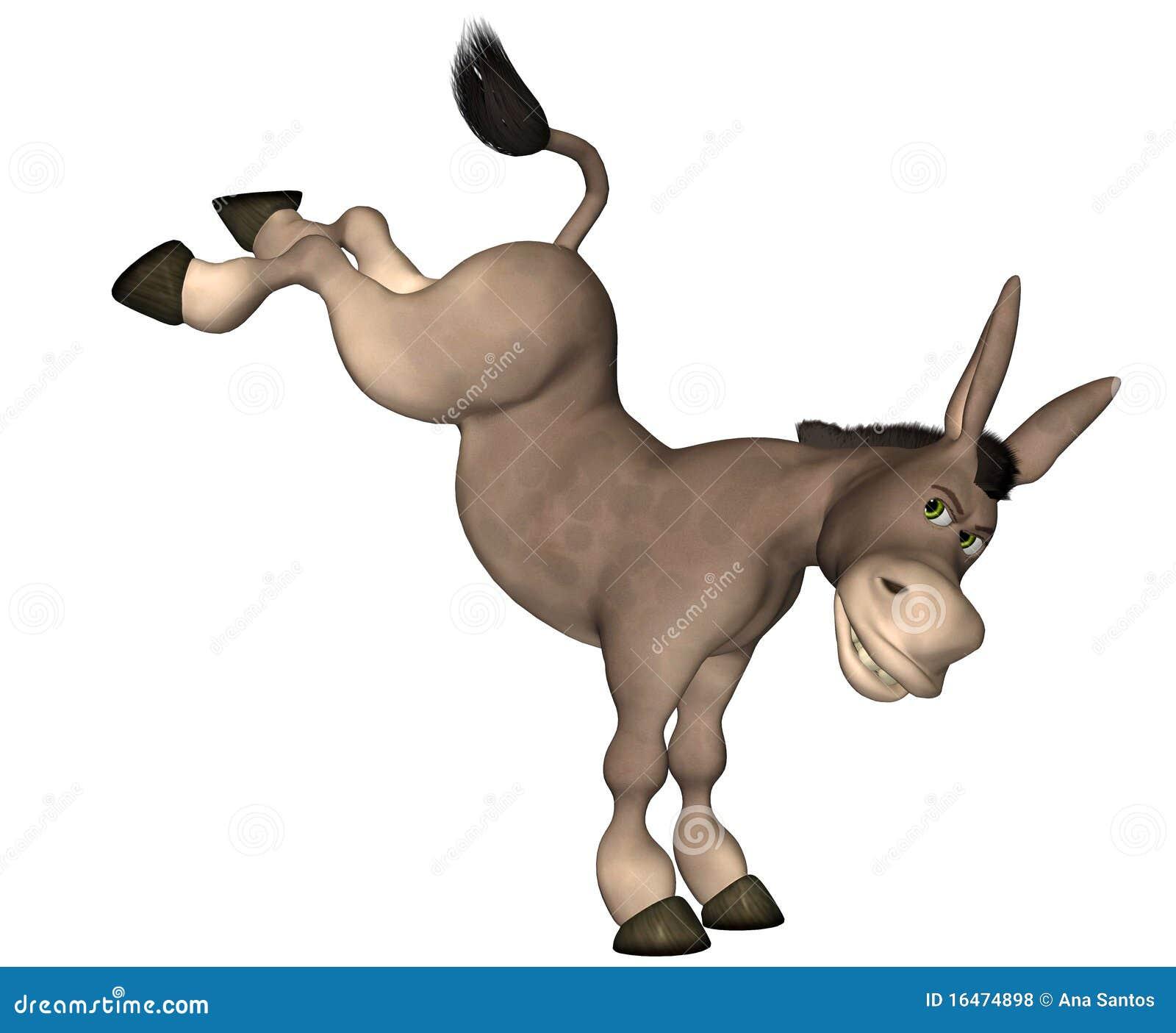 Dessin animé d âne