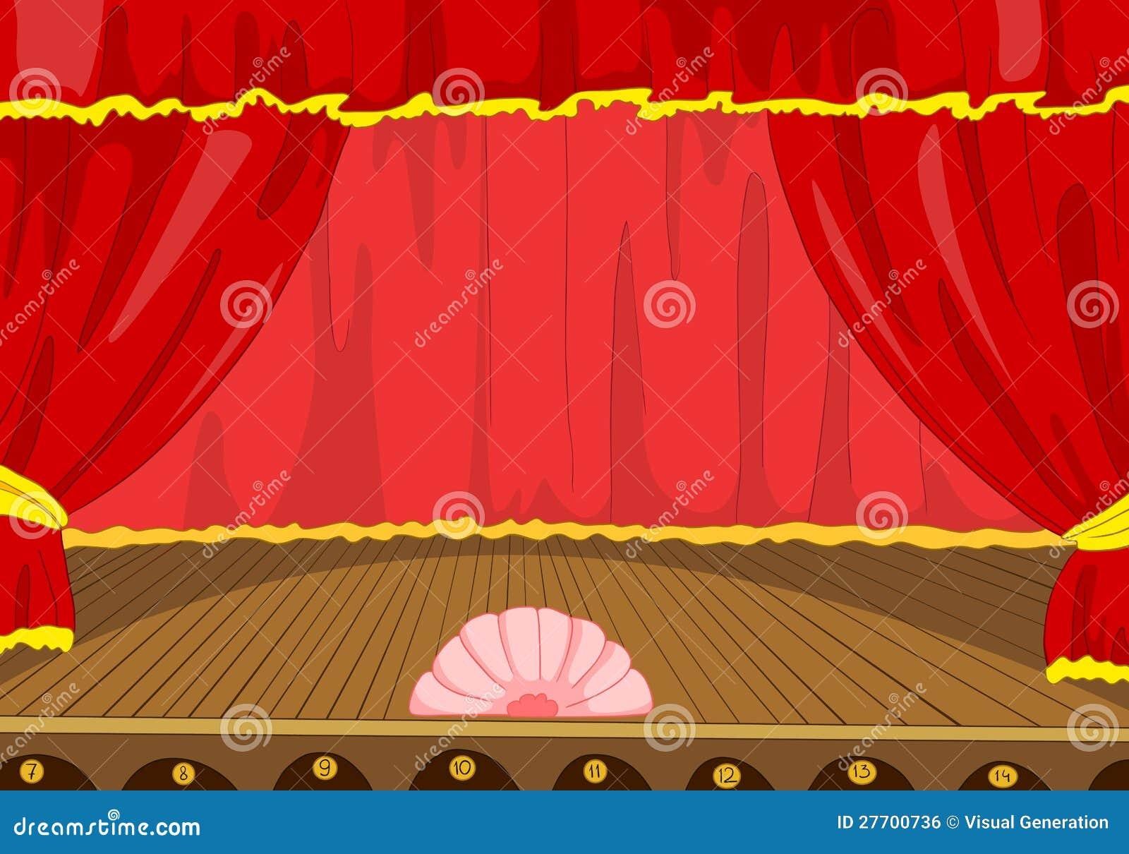 Dessin anim d 39 tape de th tre illustration de vecteur - Dessin de theatre ...