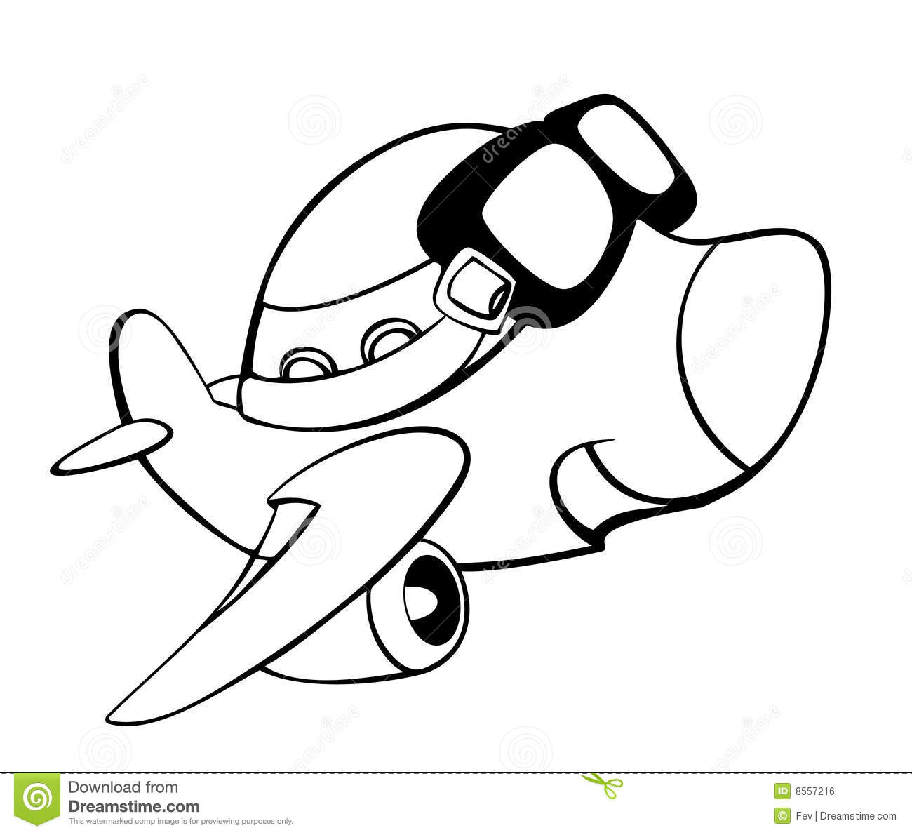 Dessin anim d 39 avion illustration de vecteur illustration - Dessins avions ...