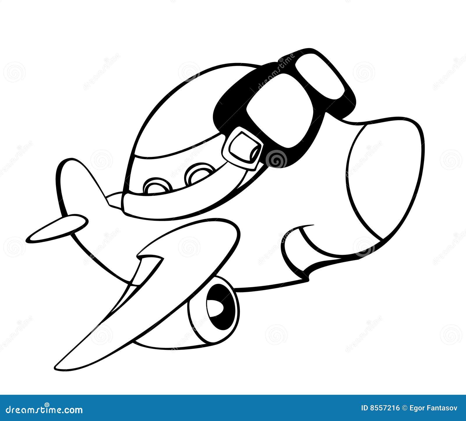 Dessin anim d 39 avion illustration de vecteur illustration - Dessin d avion facile ...