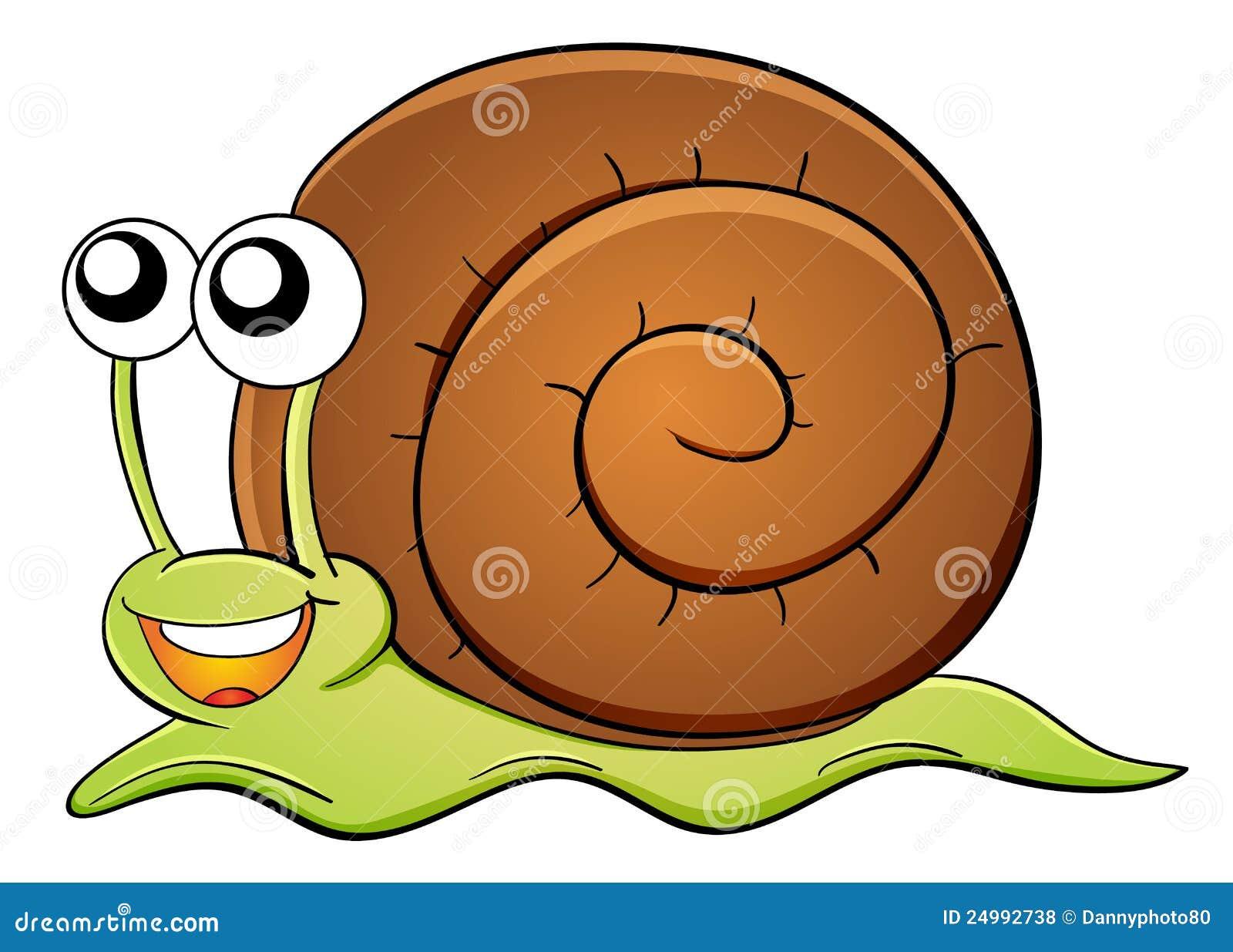 Dessin Animé D'escargot Photos libres de droits - Image: 24992738