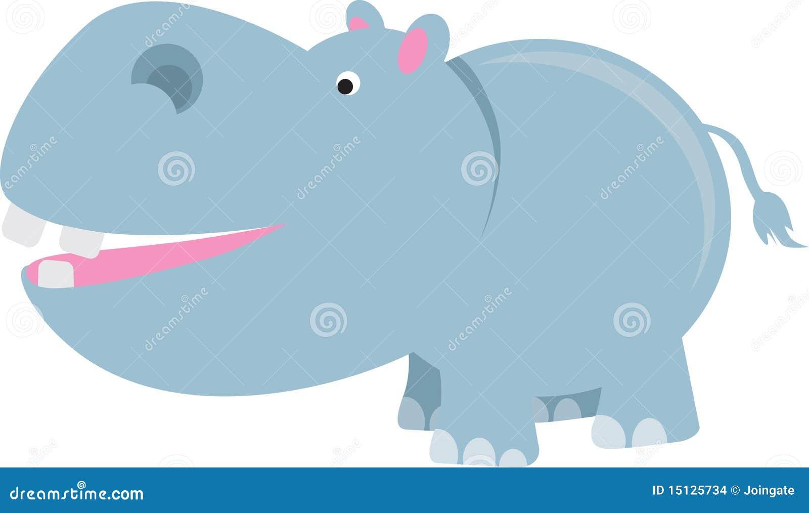 Dessin anim d 39 hippopotame illustration de vecteur - Dessin d hippopotame ...
