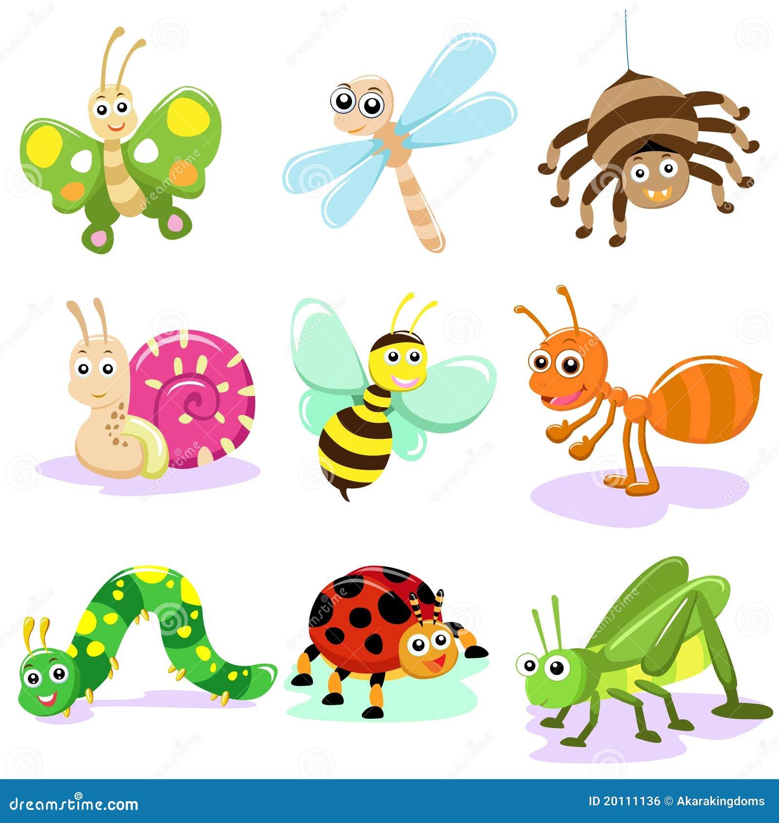 Dessin anim d 39 insecte illustration de vecteur - Dessin d insectes a imprimer ...