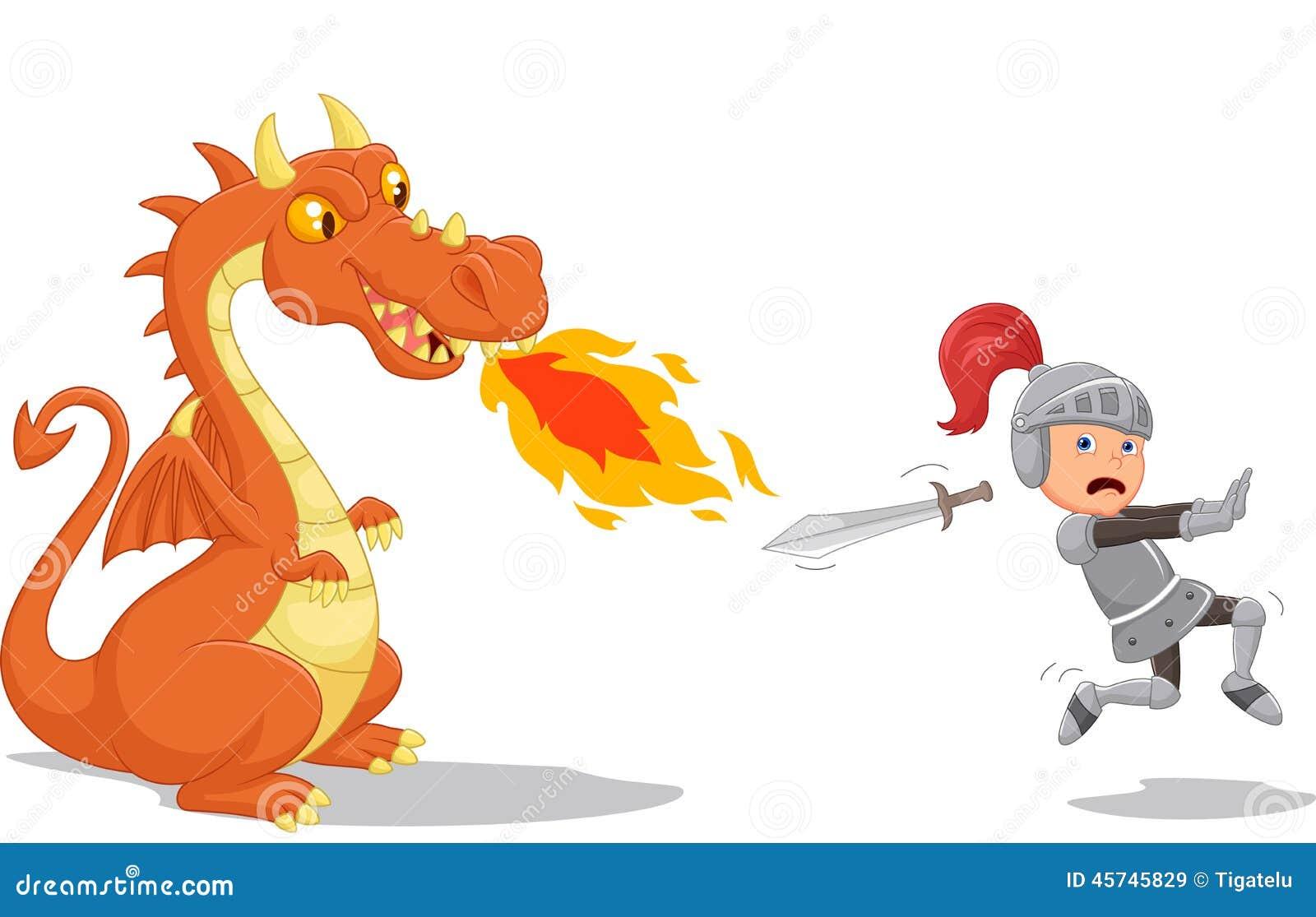Dessin anim d 39 un chevalier ex cutant d 39 un dragon f roce - Dessin d un dragon ...