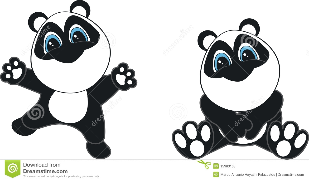 Dessin Animé De Chéri De Panda Illustration Stock