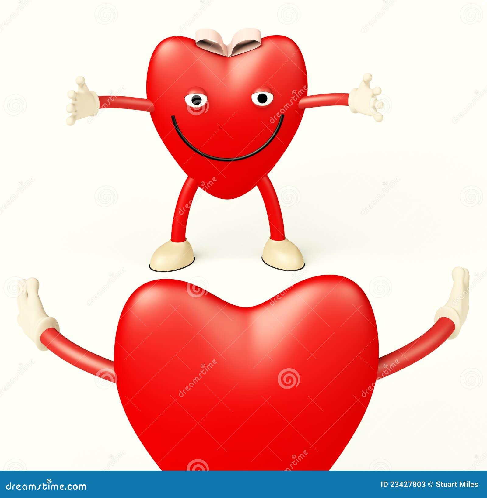 Dessin anim de coeur affichant l 39 amour photos stock image 23427803 - Dessin de l amour ...