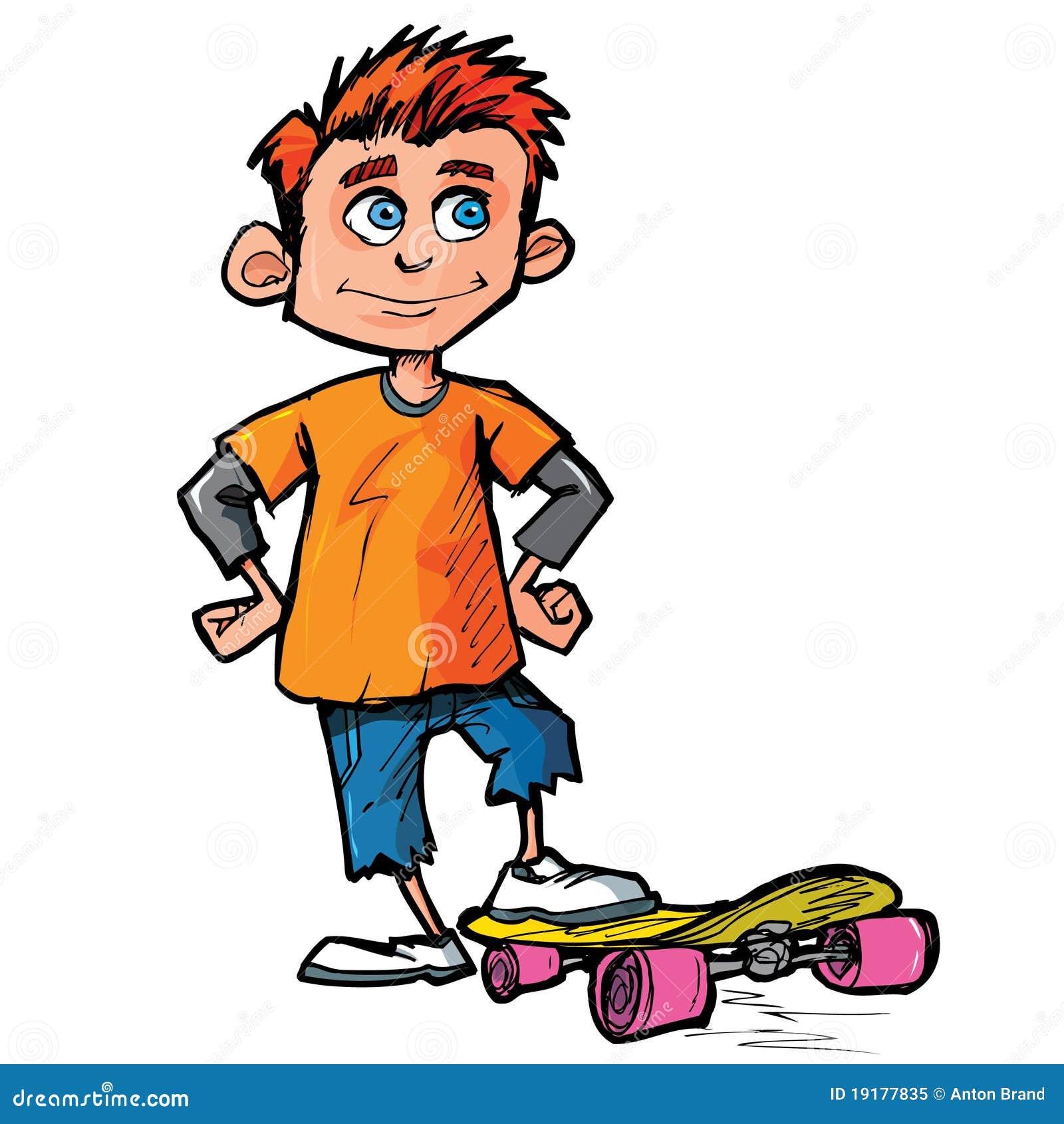 dessin anim de gar on de patineur illustration de vecteur illustration du gar on patineur. Black Bedroom Furniture Sets. Home Design Ideas