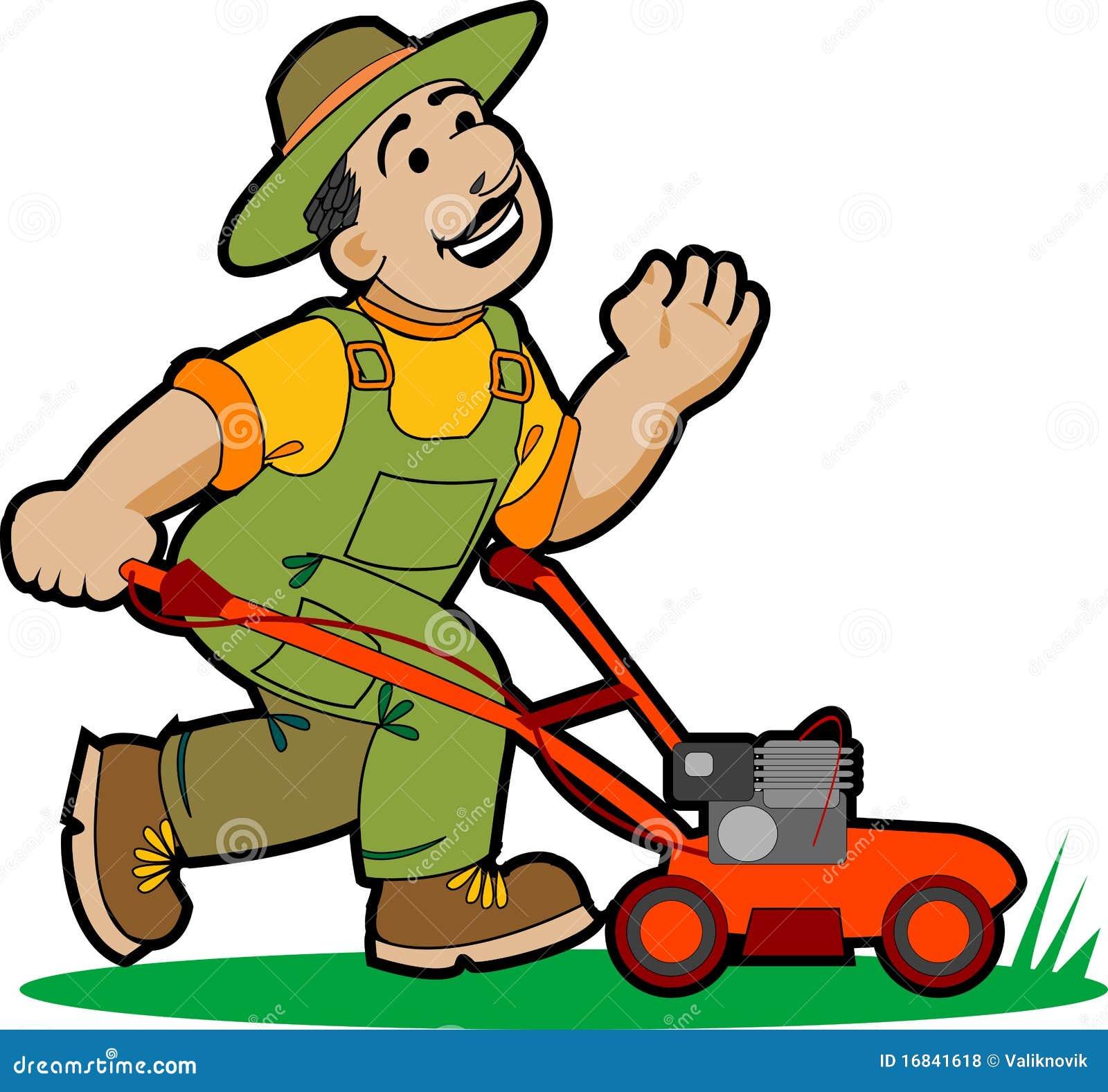 Dessin anim de jardinier illustration de vecteur for Service jardinier