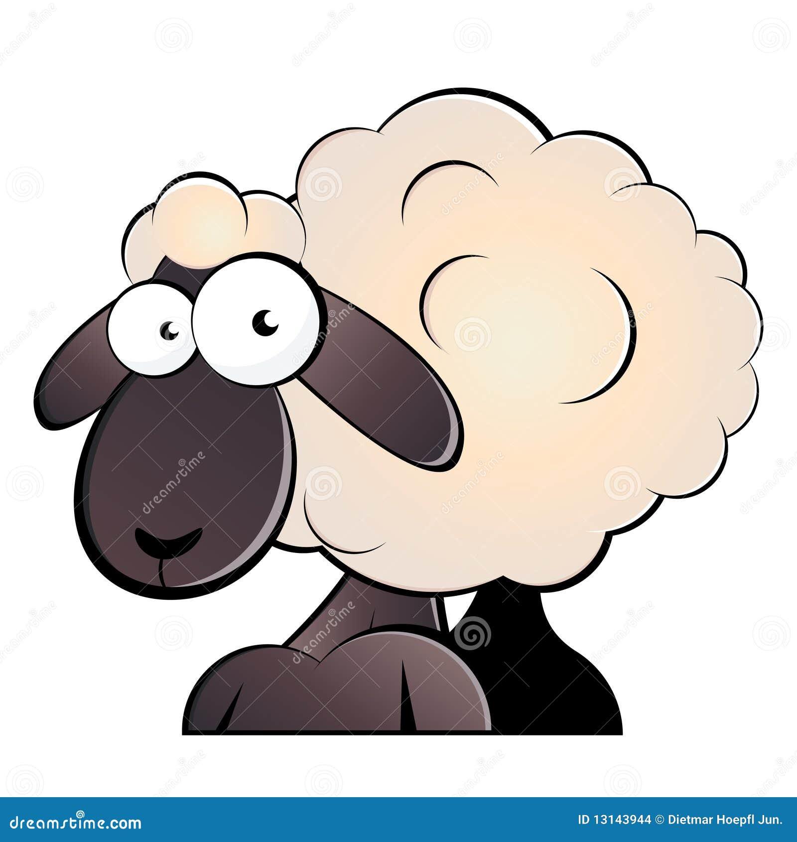 Dessin Anime De Moutons Illustration De Vecteur Illustration Du