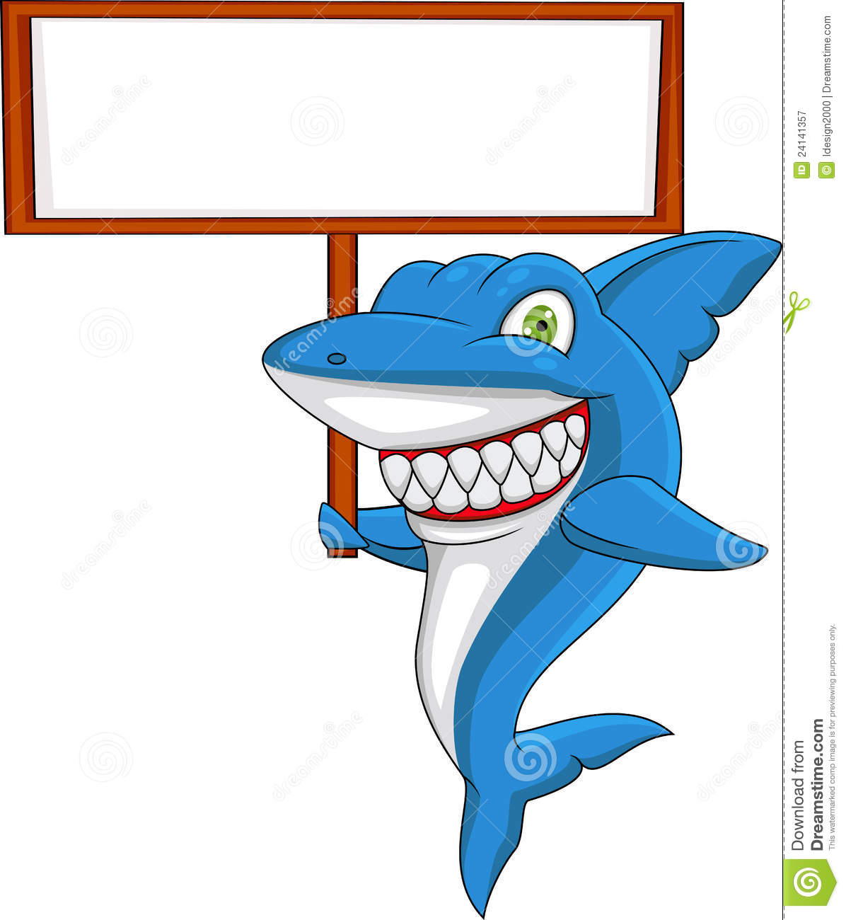 Photographie stock libre de droits shark cartoon with - Dessin de requin blanc ...