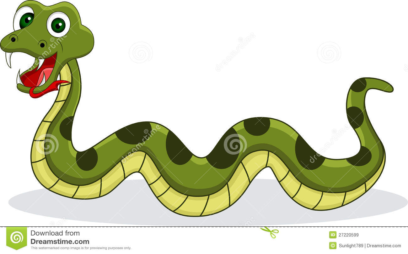 Dessin Animé Serpent dessin animé de sourire de serpent illustration stock - illustration