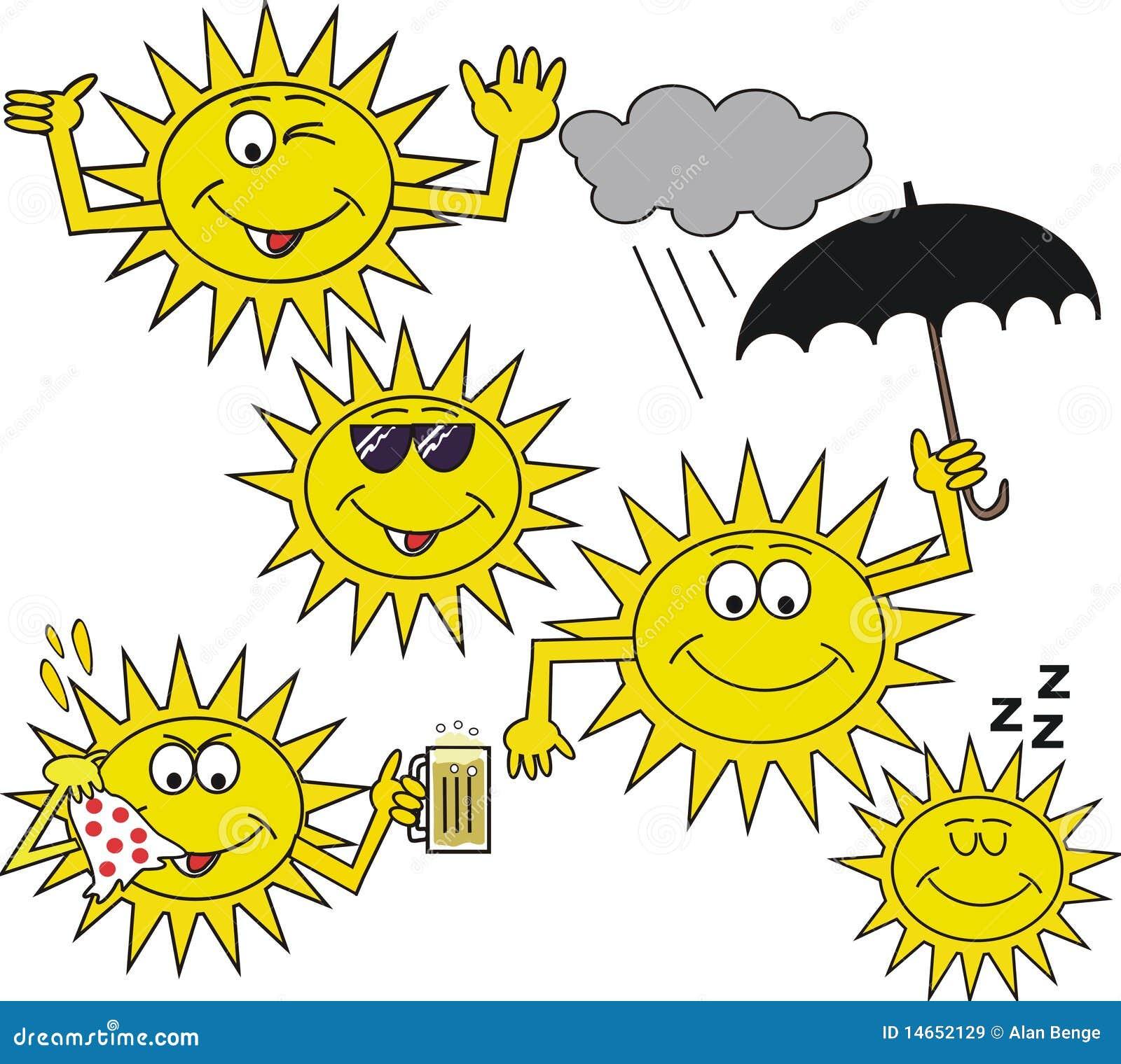 Dessin anim de sourire de symbole du soleil illustration - Dessin du soleil ...