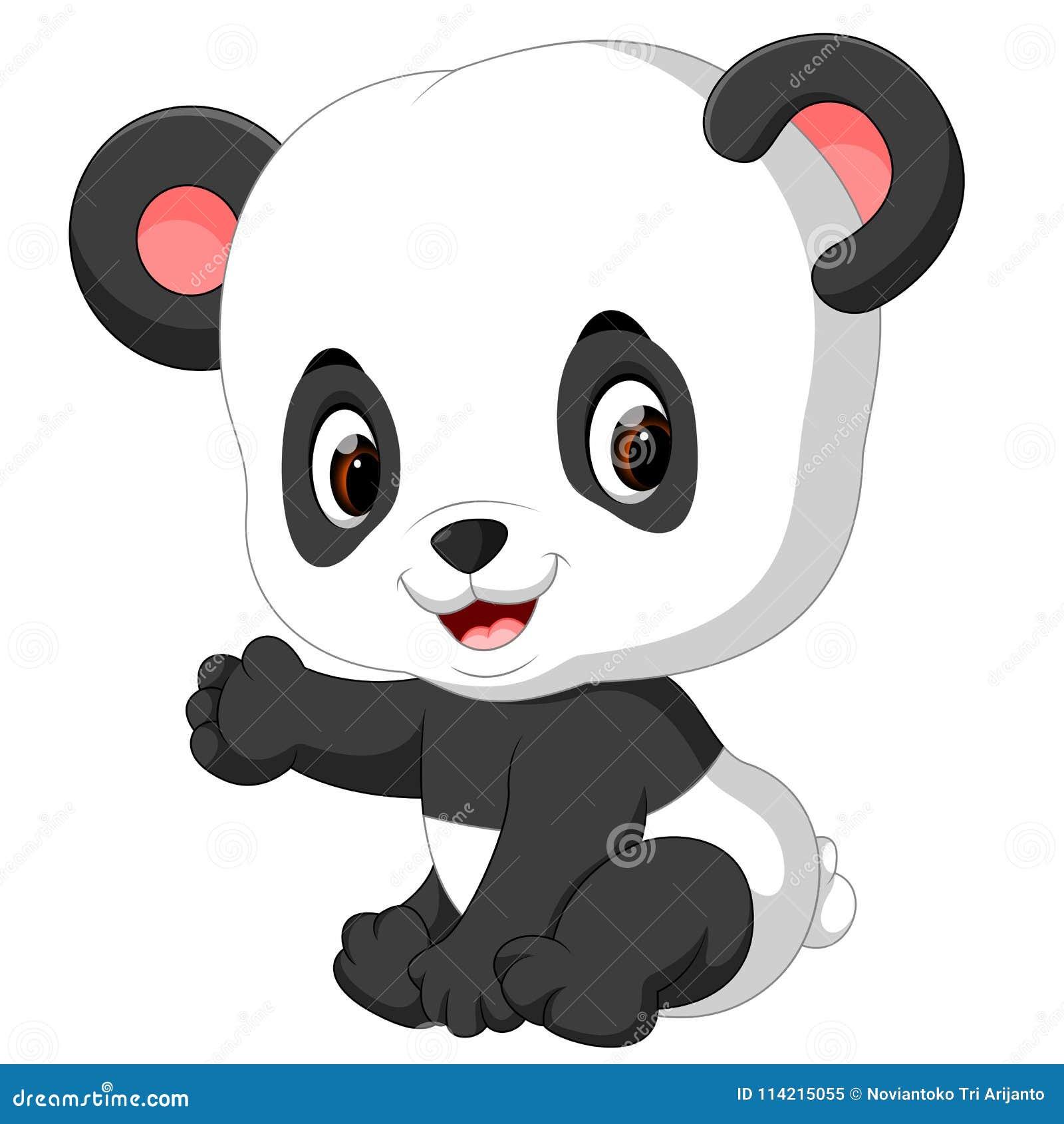 Dessin Animé Drôle De Panda Illustration De Vecteur