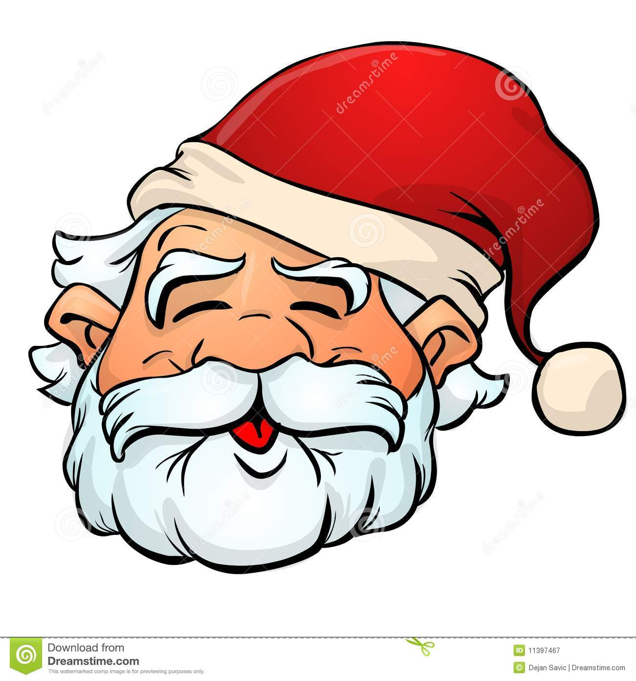 Dessin anim du p re no l illustration stock illustration du moustache 11397467 - Dessins de noel en couleur ...