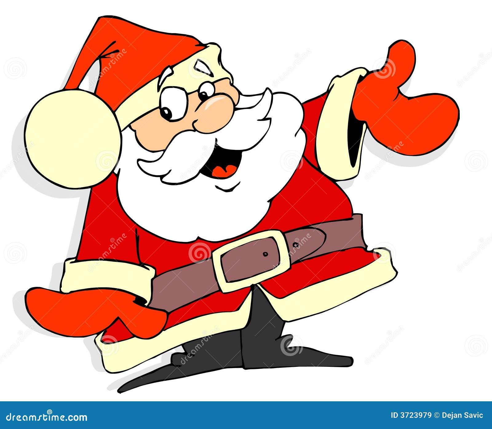 Dessin Animé Du Père Noël Illustration Stock Illustration