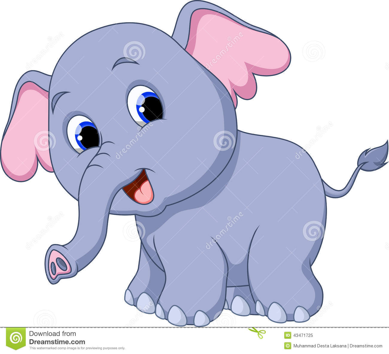 Dessin anim mignon d 39 l phant illustration stock - Elephant en dessin ...
