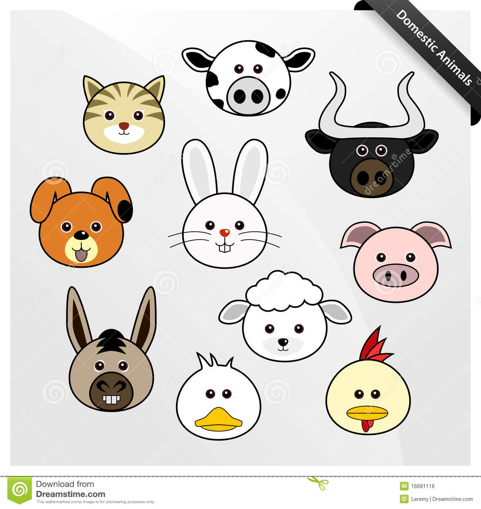 Dessin anim mignon d 39 animal domestique image libre de - Animal mignon ...