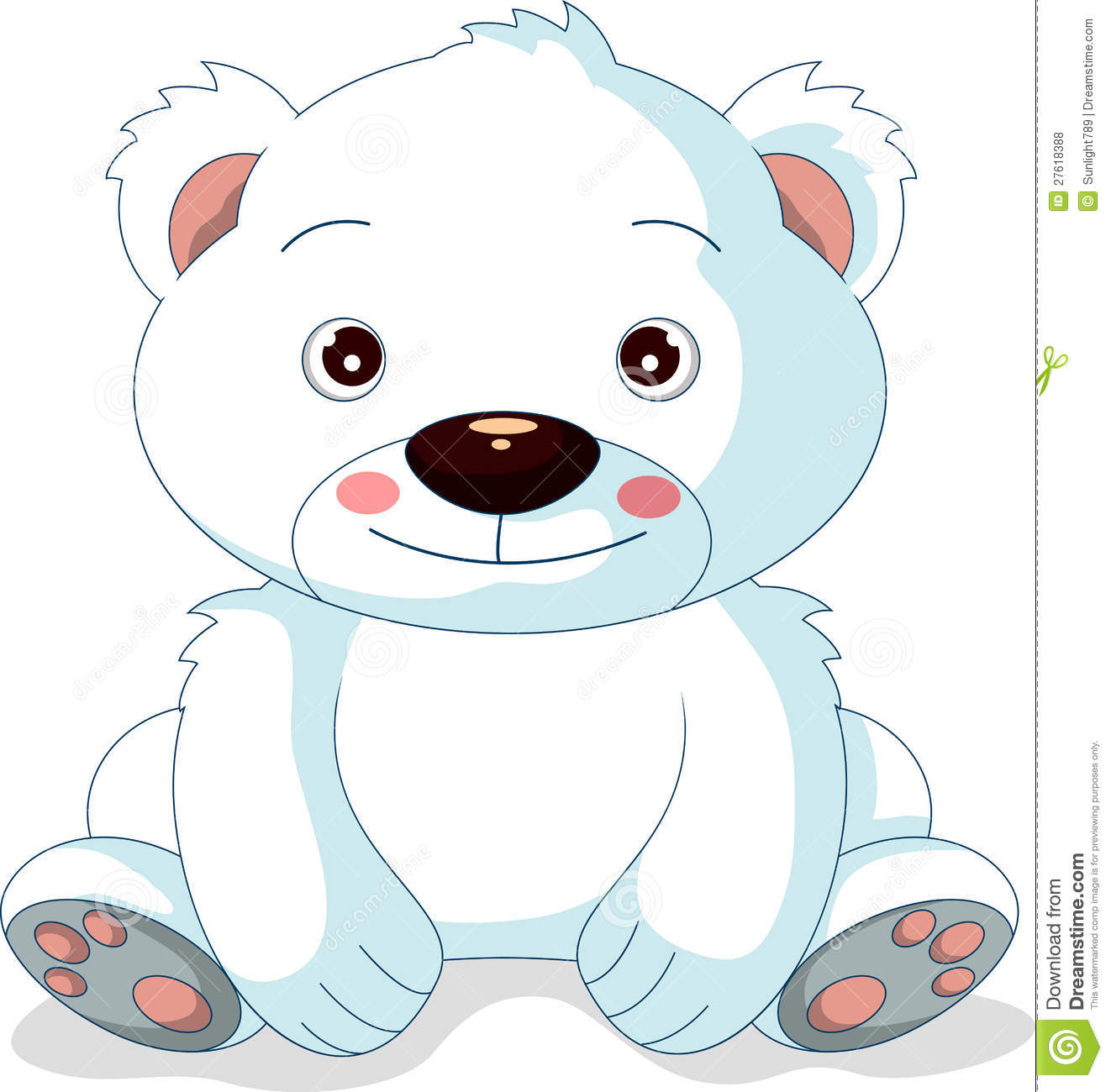 Dessin Anime Mignon D Ours Blanc Illustration Stock Illustration
