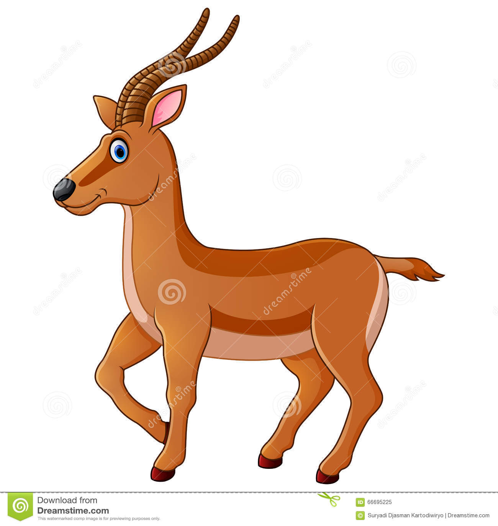 Dessin anim mignon de gazelle illustration de vecteur illustration du mignon graphisme 66695225 - Gazelle dessin ...