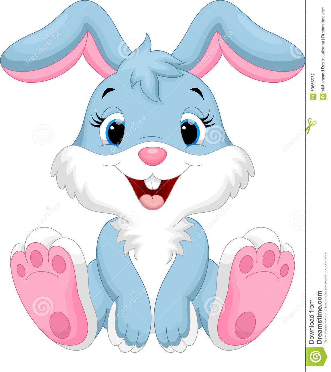 Dessin anim mignon de lapin illustration stock illustration du retrait amusement 63655577 - Dessin lapin mignon ...