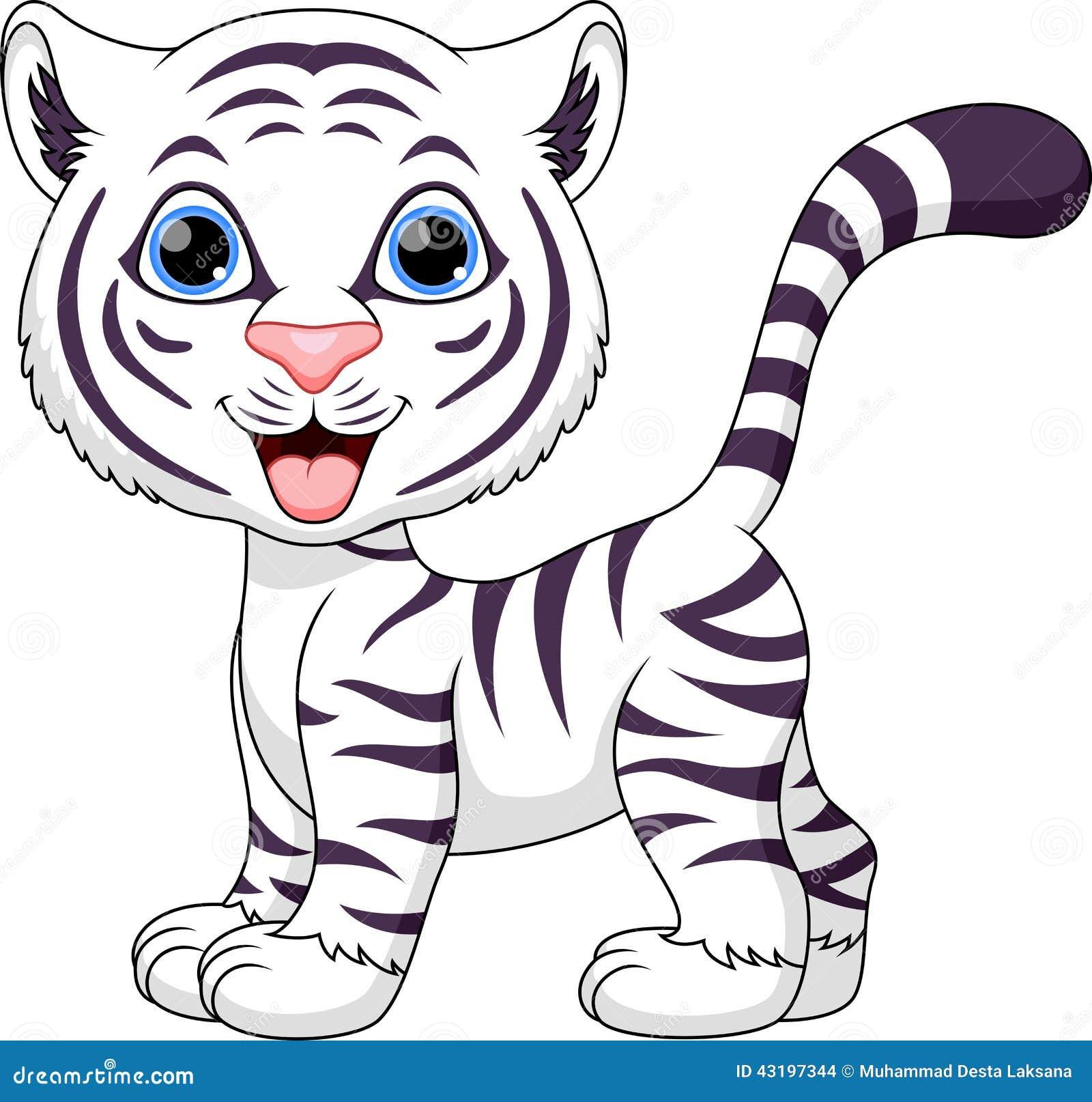 Dessin anim mignon de tigre illustration stock image 43197344 - Dessin de tigre facile ...