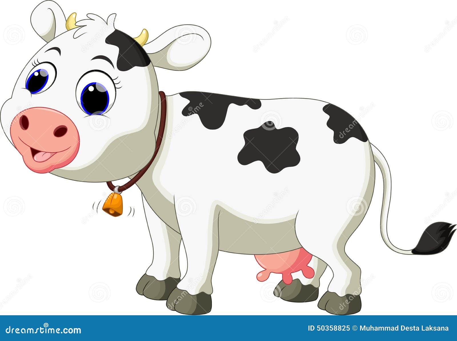 Dessin anim mignon de vache illustration stock - Dessin vaches ...