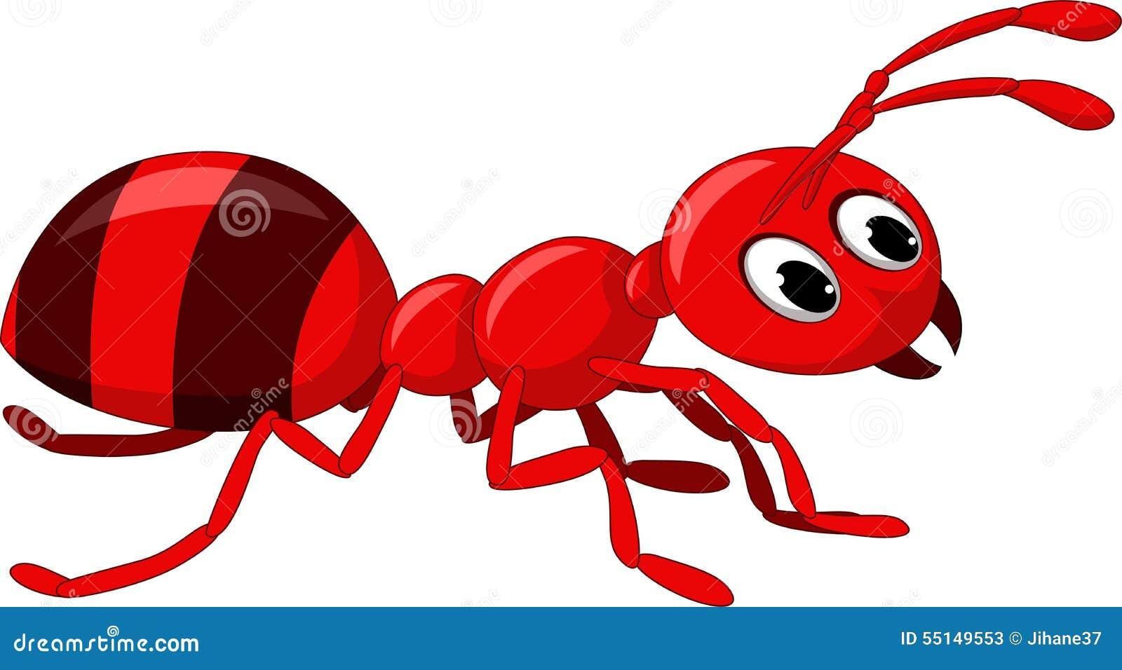 Dessin anim rouge de fourmi illustration stock illustration du t te trunk 55149553 - Dessin de fourmi ...