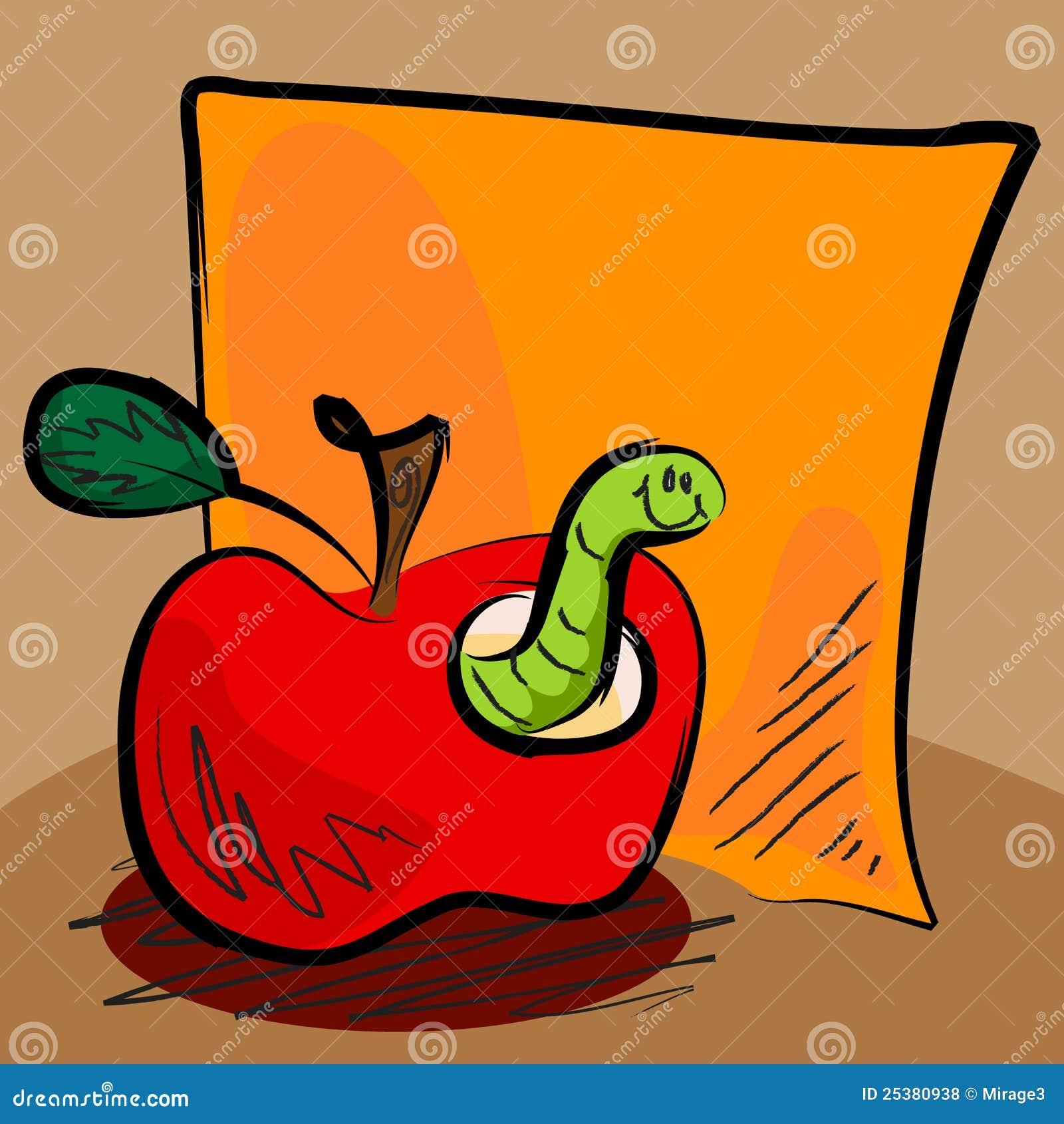 Dessin anim sale de ver de terre de pomme avec collant photos libres de droits image 25380938 - Dessin de ver de terre ...