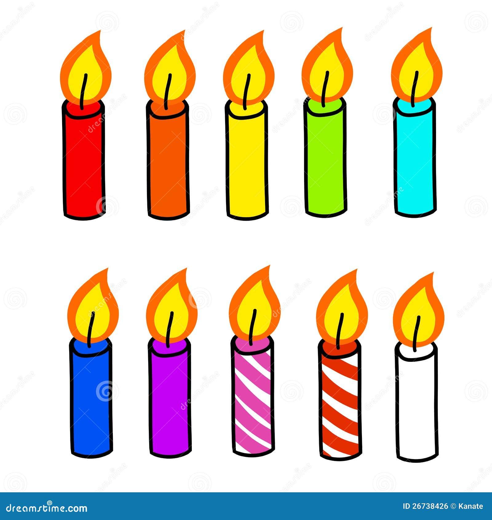 Dessin anim de bougie image libre de droits image - Dessin de bougies ...