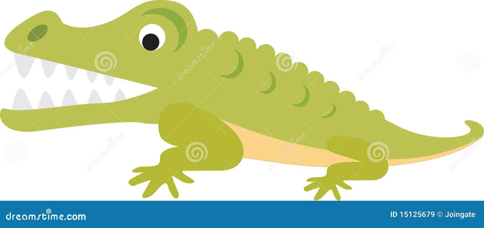 Dessin anim de crocodile ou d 39 alligator images libres de droits image 15125679 - Dessin anime crocodile ...