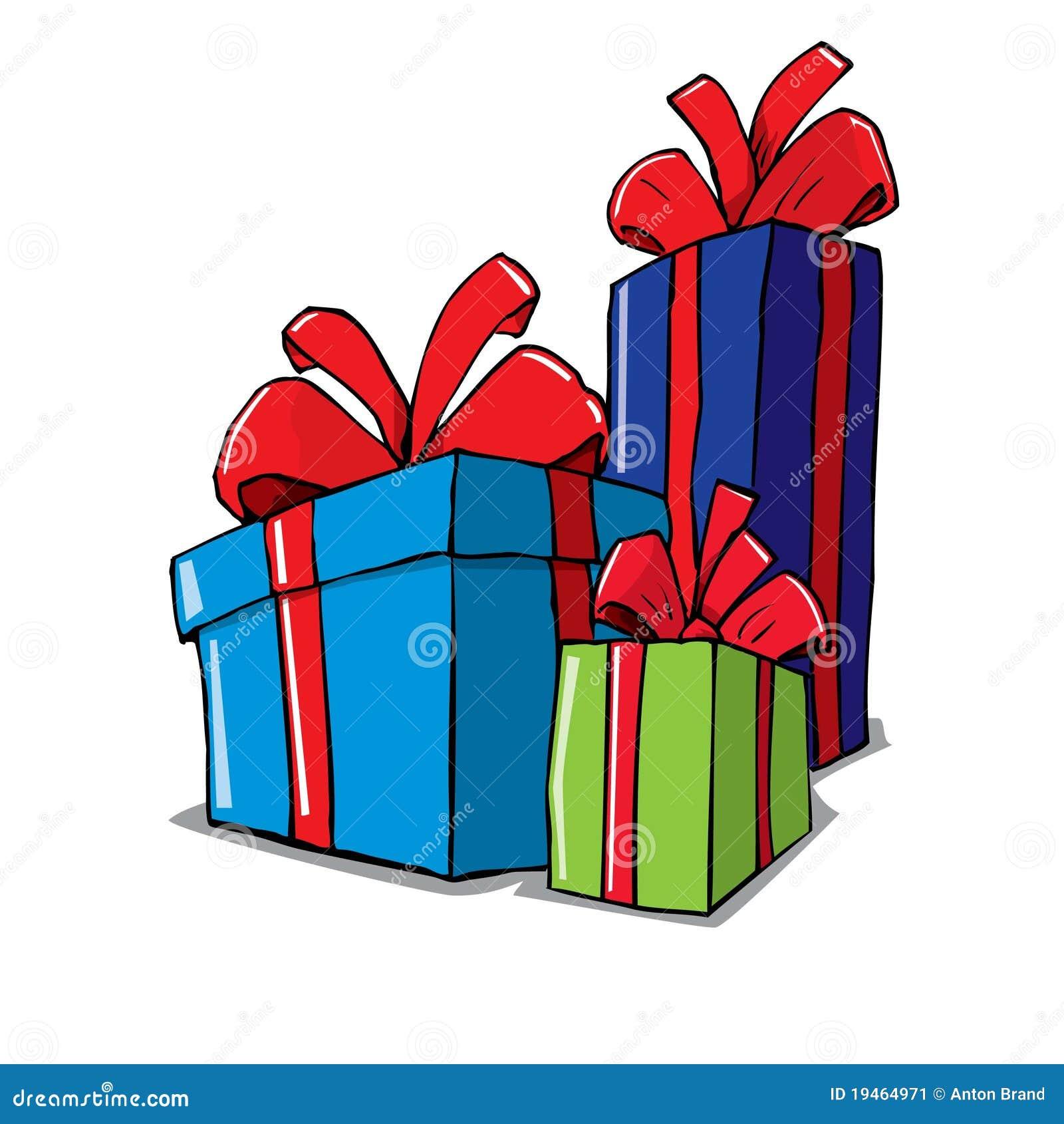 Dessin anim de groupe de cadeaux de no l image stock - Dessins cadeaux ...