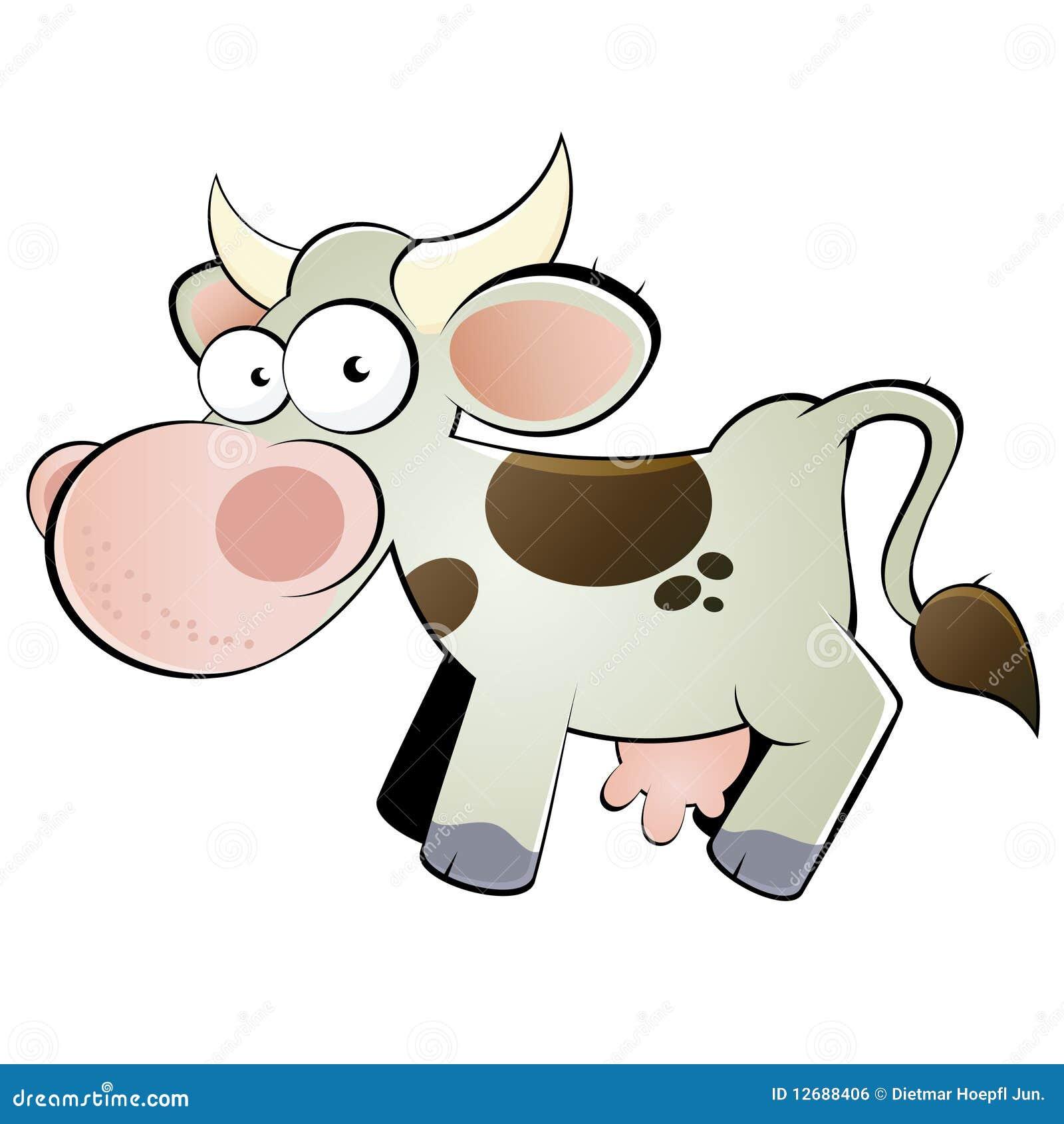 Dessin anim heureux de vache image libre de droits - Dessin vache humour ...
